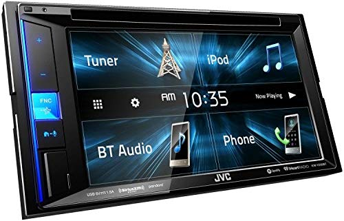 """JVC KW-V250BT Multimedia Receiver Featuring 6.2"""" WVGA Clear Resistive Touch Monitor/Bluetooth / 13-Band EQ from JVC"""