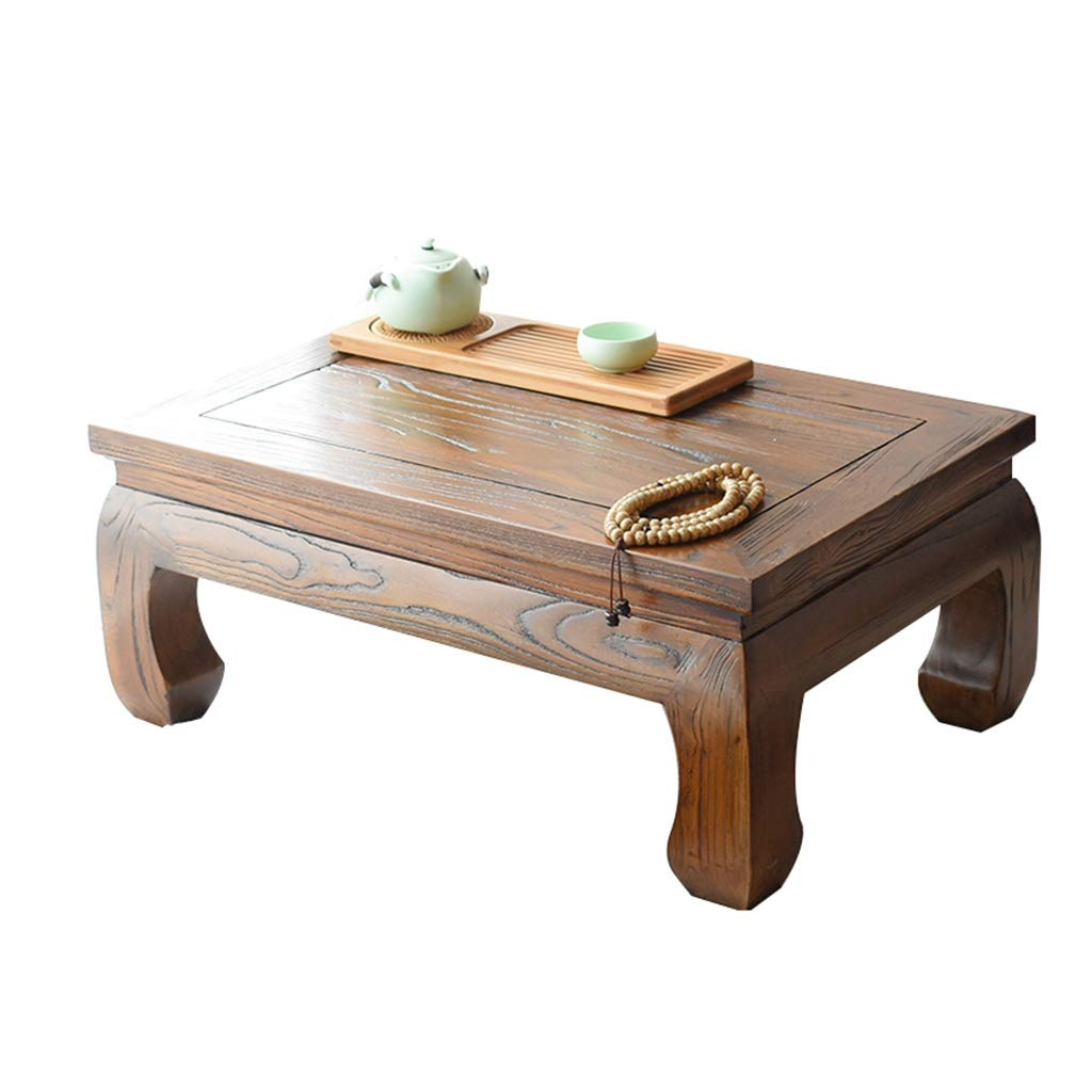 Brown 60X40X25CM Solid Wood Coffee Table Balcony Small Table Bedroom Breakfast Table Living Room Small Coffee Table Laptop Table Study Table (color   Brown, Size   60X40X25CM)