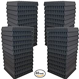 48 Pack- Acoustic Panels Studio Soundproofing Foam Wedges 2\