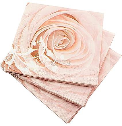 20 servilletas de 3 capas rosa diseño de rosa servilletas de papel – 33 cm x