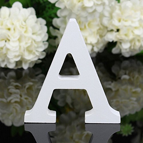 Totoo Decorative Wood Letters, Hanging Wall 26 Letters Wooden Alphabet Wall Letter for Children Baby Name Girls Bedroom Wedding Brithday Party Home Decor-Letters (A) (Nicole Wall Hangings)