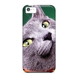 Tpu WilliamsGA Shockproof Scratcheproof Blue British Cat Hard Case Cover For Iphone 5c