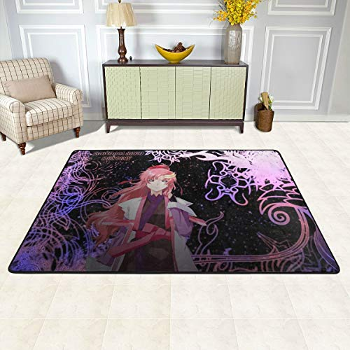 Angela R Mathews Gundam Seed-Lacus Non-Slip Carpet Area Rug Modern Flannel Microfiber Anime/Cartoon Rectangle Carpet Decor Floor Rug Living Room,Bedroom,Study Floor Mat 3' X 2'