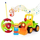 SGILE R/C Remote Radio Control Race Toy, Tractor Truck Bulldozer Car Toy Toddlers Kids, Green