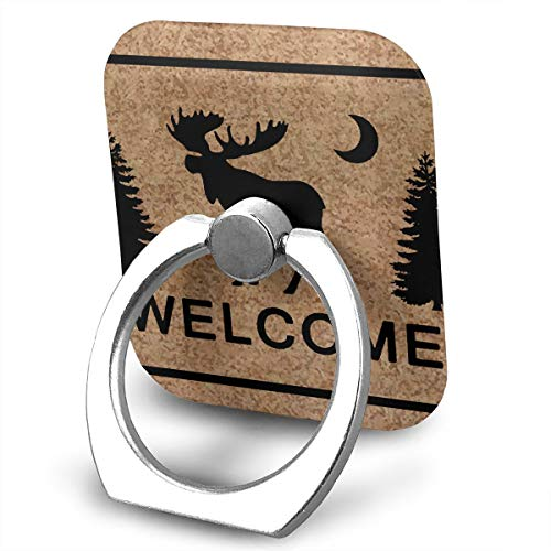Custom Rings Metal Pull Ring Square Ring Bracket Tablet Phone Buckle Paste Type Metal Ring Rotation - Welcome Deer Tree ()