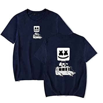RUIXIAO DJ Marshmello malvavisco Camiseta de Manga Corta con ...