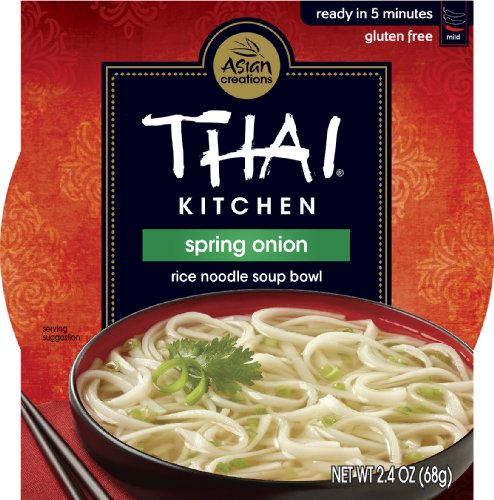 Thai Kitchen Gluten Free Spring Onion Rice Noodle Soup Bowl, 2.4 oz (Case of 36) (Spring Onions)