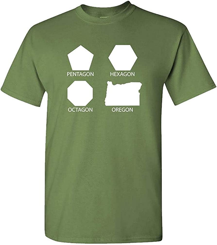 DFSDFSASDF Pentagon Hexagon Octagon Oregon - Funny - Mens Cotton T ...