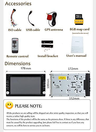 New Version ! 800MHZ CPU !!! GPS Navigation Car Radio 6.2 Inch Car DVD Player Touch Screen Stereo Bluetooth Autoradio In Dash Headunit Car Video Player by EinCar (Image #8)
