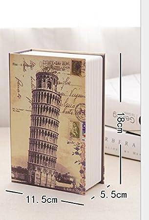 YOIL de Decoración Hucha Cajas de Ahorro Regalo Libro simulado Piggy Bank Password Lock Safe (Small D): Amazon.es: Juguetes y juegos