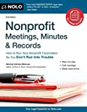 Nonprofit Meetings, Minutes and Records, Anthony Mancuso, 141331628X