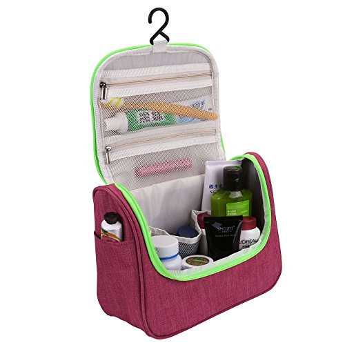 CozyCabin Hanging Toiletry Bag Travel Toiletry Kit for Men Women Toiletries Cosmetics Water Resistant with Mesh Pockets & Sturdy Nylon Hanging Hook Shower Bag, Organizer for Travel (4 Zippered Mesh Pockets)