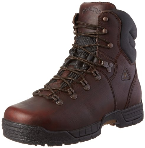 Rocky Men's Mobilite Eight Inch Steel Toe Work Boot,Brown,11 M US