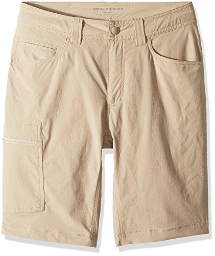 (Royal Robbins Men's Active Traveler Stretch Shorts, Khaki, Size 32)