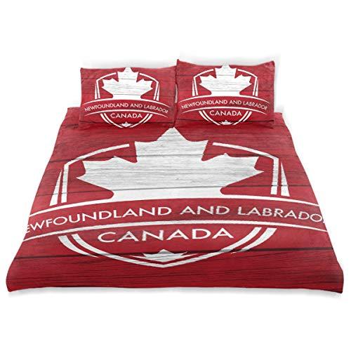 - Franzibla Newfoundland & Labrador Province Canada Maple Leaf Flag Kids Bedding Duvet Cover Set,Twin Size 3 Piece Including 1 Duvet Cover and 2 Pillowcases