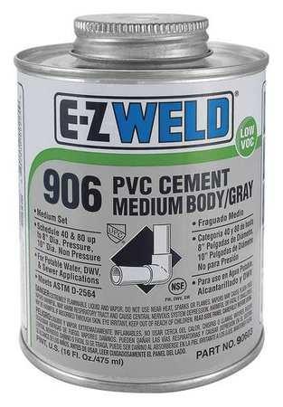 Cement, 16 Oz, Gray, PVC, Medium Body, LowVOC ()