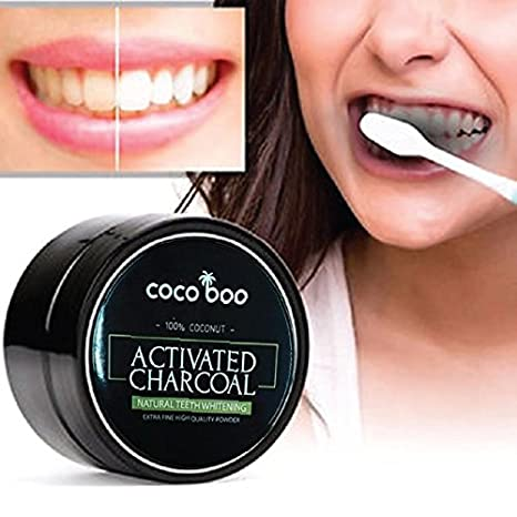 Amazon.com: Cocoboo - Activated Charcoal Powder, Teeth Whitening, Natural Coconut Charcoal, Mint Flavor (30 gram) - Teeth Whitener includes Bamboo ...