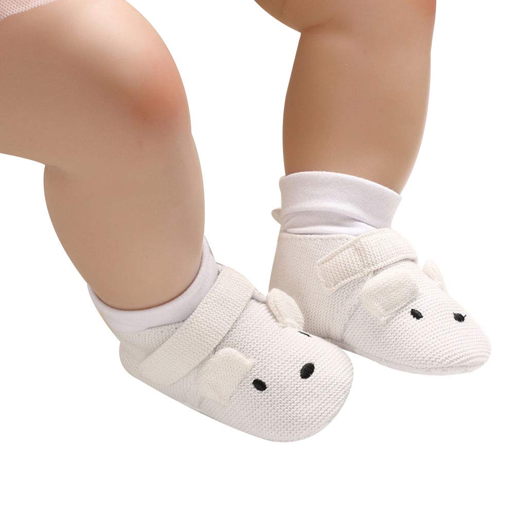 Pink 13cm Alamana Lovely Cartoon Infant Baby Cotton Soft Sole Anti-Slip Prewalker Toddler Shoes
