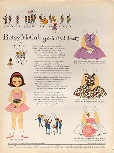 - Betsy McCall goes to West Point paper doll page 6 1959