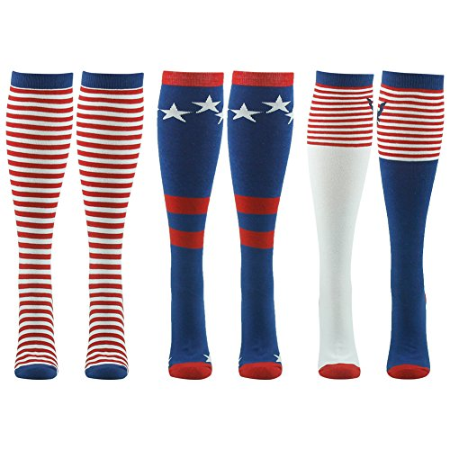 American Flag Socks, Gmall Stars and Stripes Thanksgiving Christmas Holiday Party Knee High Socks for Men and - Running Flag Mens Shorts American