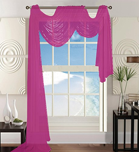 Elegant Comfort Beautiful Window Panel Curtain Sheer Voile S