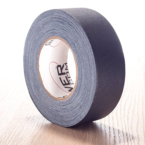 REAL Premium Grade Gaffer Tape Plus by Gaffer Power Made in the USA - Black 2 In X 55 Yds 11.5 mils - Heavy Duty Gaffer's Tape - Non-Reflective - Multipurpose - Better than Duct Tape