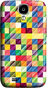 Color cube Fashion Designed Pattern Protevtive 3D Hard Back Case Cover for Samsung Galaxy S4 I9500