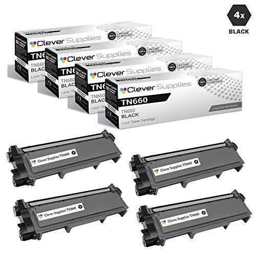 CS Compatible Toner Cartridge Replacement Brother TN660 TN630 TN-660 TN-630 TN 660 TN 630 Jumbo HIGH Yield 4 Black for DCP-L2520DW DCP-L2540DW HL-L2320D HL-L2340DW HL-L2360DW MFC-L2680W MFC-L2685DW