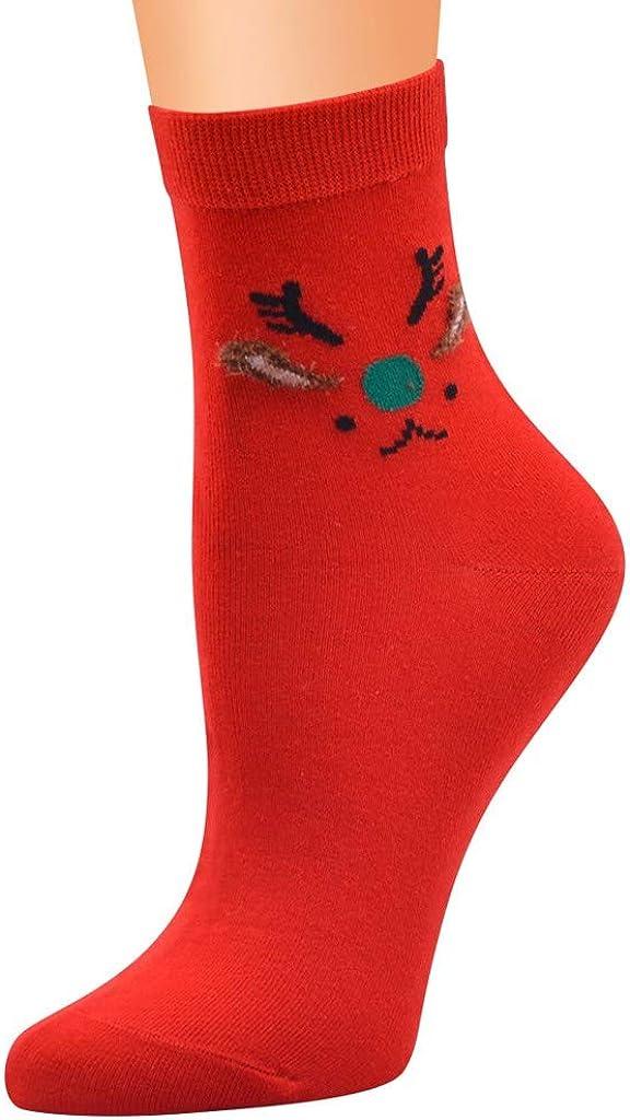 Sayhi Winter Christmas Socks Womens Novelty Cotton Print Socks Girls Christmas Gifts Grippers Slipper Socks