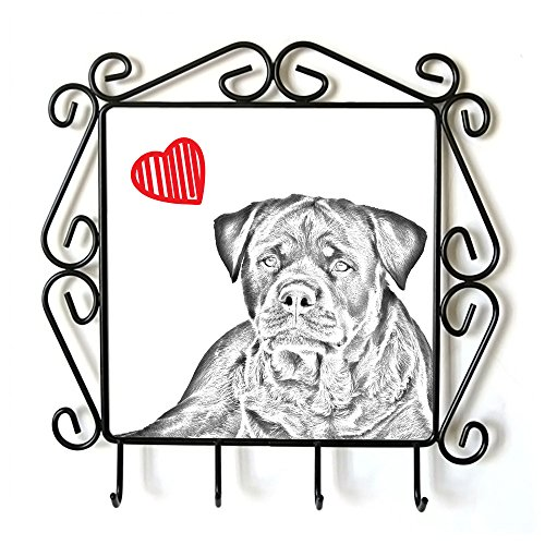 Rottweiler, Clothes Hanger with an Image of a Dog and Heart by Art Dog Ltd.