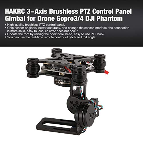 Wikiwand HAKRC 3-Axis Brushless PTZ Control Panel Gimbal for Drone Gopro3/4 Phantom