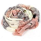 Scarf - SODIAL(R) Elegant Women Long Print Cotton Scarf Wrap Ladies Shawl Large Silk Scarves