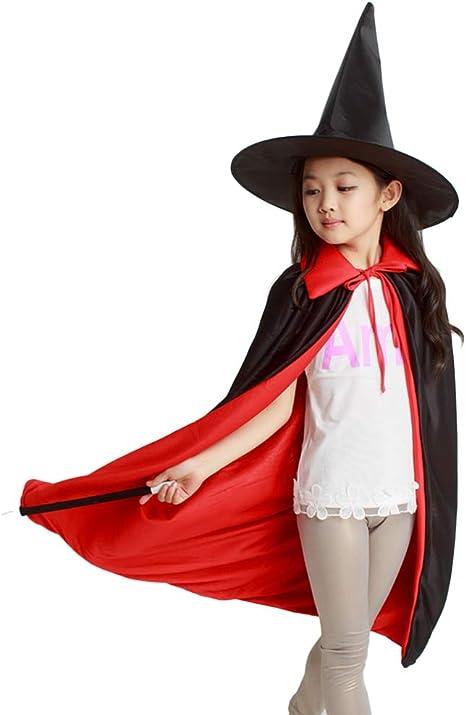 NUOBESTY Disfraz de Mago Disfraz de Halloween para niños, niñas y ...