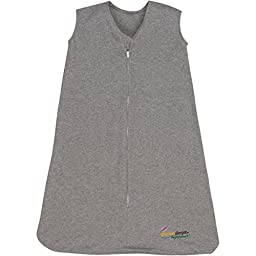Miracle Blanket Sleeper Wearable Blanket Sack, Gray, Medium (9-18 months)