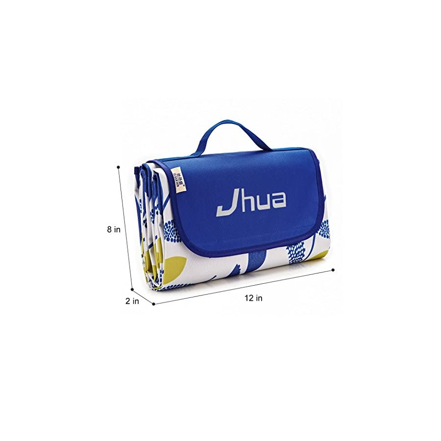 Jhua Waterproof Picnic Blanket Large Picnic Mat Foldable Moistureproof Camping Picnic & Beach Blanket for Outdoors/ Travelling/ Camp