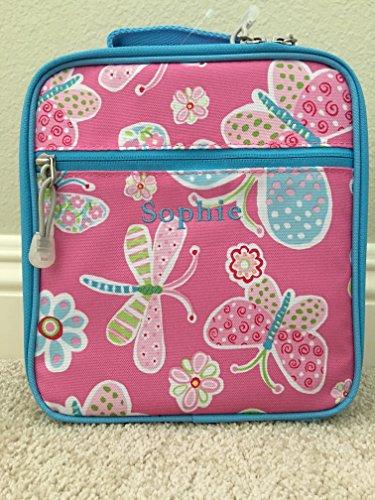 Pottery Barn Kids Mackenzie Classic Lunch Bag, Pink Butterflies,
