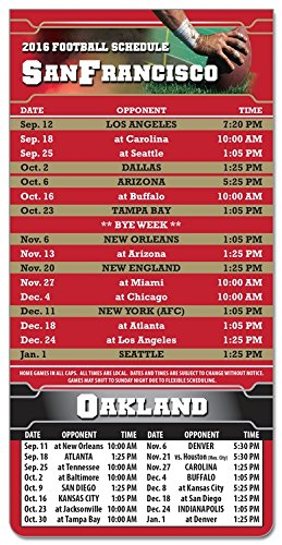 (300 PIECES Magnetic Business Card NFL Pro Football Sport Schedules 3.5 x 9
