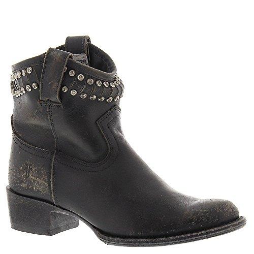 (FRYE Women's Diana Cut Studded Short Boot Black 7.5 M US)