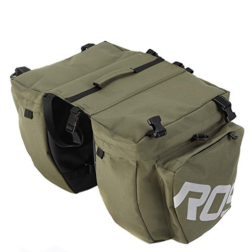 Roswheel 3 in 1 Multifunction Road MTB Mountain Bike Bag Bicycle Pannier Rear Seat Trunk Bag (1 Seat Bag)