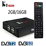 KII Pro DVB-T2/S2 S905 Quad-core Smart TV Converter Android 5.1 Memory 2GB/16GB Amlogic 4K Dual Full HD Smart Videorecorder Support Movies Tv Shows, Wifi, Bluetooth,OTA and Local Update