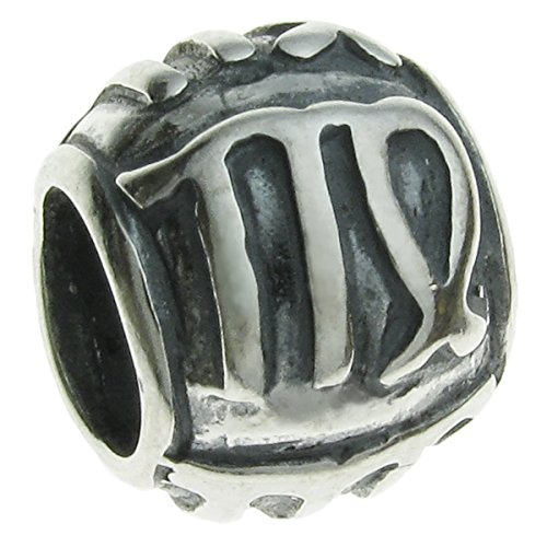 Queenberry Sterling Silver Zodiac Virgo European Style Bead Charm