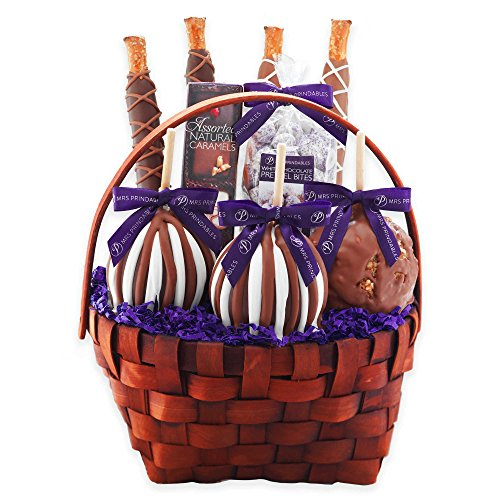Mrs. Prindable's Classic Signature Deluxe Caramel Apple Basket Gift Set