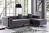 Inspired Home Grey Chaise Sectional Sofa - Design: Giovanni | 115