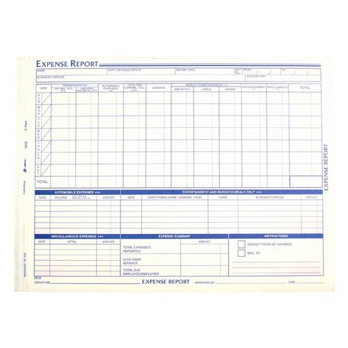 Adams Business Forms Expense Report Form, Weekly, 2 Part Form, 8 1/2x11 (ABF9032) Category: Tax and Accounting Forms by Adams Manufacturing by Adams Manufacturing