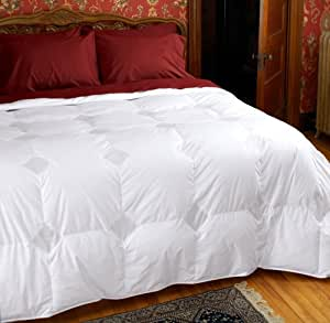 Cuddledown Temperature Regulating 800 Fill Power Down Comforter, King, Level 2, White