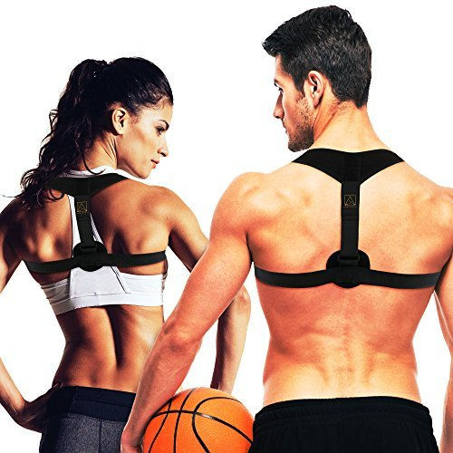 Amberight Back Posture Corrector for Women Men and Kids - Medical Cushion Support Brace - Natural High Flat Lumbar Low Neck Lower Shoulder Body Pain Scoliosis Kyphosis Orthopedic Mobile Comfort