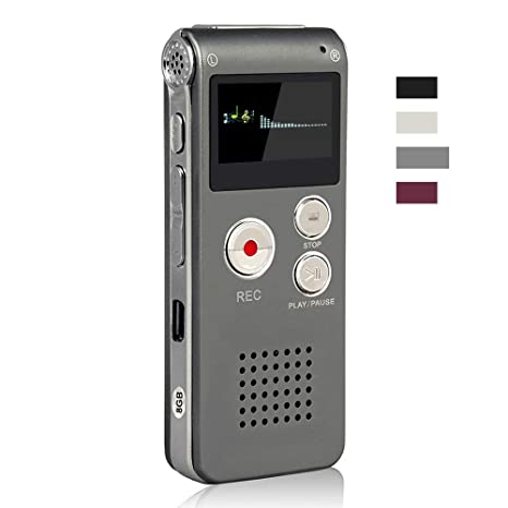 ACEE DEAL Digital Voice Recorder 8GB, Audio Voice Activated MP3 Player with  Android USB Port, Multifunction Recorder Dictaphone with Built-in Speaker,