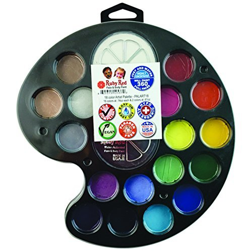 Ruby Red Paint, Inc. Face Paint, 2ML X 16 Colors & 18ML X...