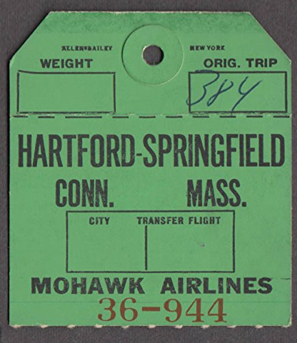 Mohawk Airlines airline baggage check Hartford-Springfield BDL - Airlines Mohawk