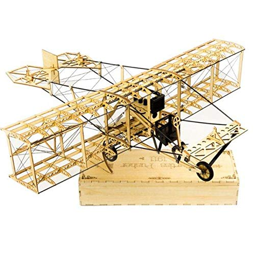 Curtiss Pusher 550mm Wingspan Balsa Wood Airplane Handicrafts Decoration KIT Unassembled - RC Toys & Hobbies RC Airplane - 1x Curtiss Pusher 550mm Balsa Wood Airplane Handicrafts Decoration KIT Un
